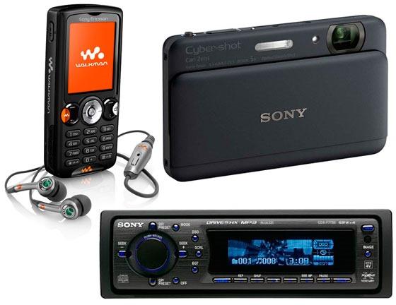 Первоклассные продукты Sony