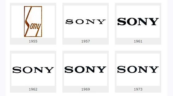 Как изменялся логотип Sony